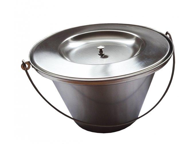 Toaletní nádoba s víkem, nerezová ocel