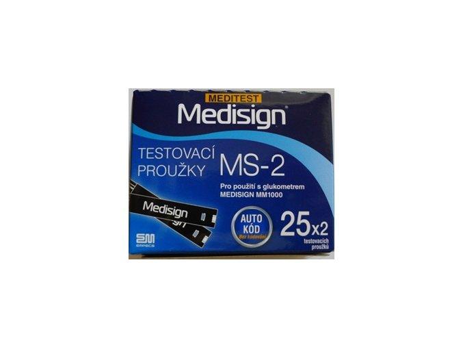 Testovací proužky Medisign MS-2 pro MM1000 4 pack (4x50ks)