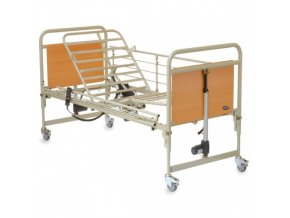 Repasovaná postel kov dřevo elektrická polohovací INVACARE