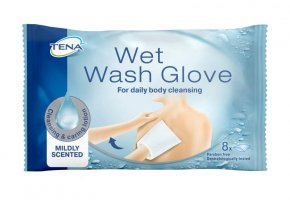 TENA Wet Wash Glove – Vlhčená mycí žínka