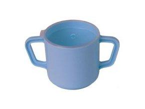 Hrnek na pití, 2 držátka, modrý