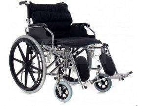 Invalidní vozík XXL speciální široký 56 cm, ocelový