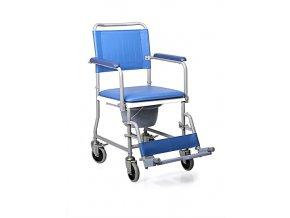 Toaletní židle pojízdná RC210-45 s opěrkou nohou